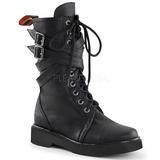 kunstlær 3,5 cm RIVAL-307 punk ankelstøvler