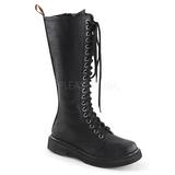 kunstlær 3,5 cm RIVAL-400 Svarte punk boots med snøring