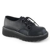 kunstlær 3 cm LILITH-99 Svarte punk sko med snøring