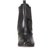 kunstlær 4 cm BROGUE-02 winklepicker goth ankelstøvletter til menn