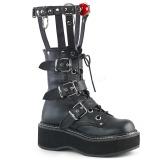 kunstlær 5 cm DEMONIA EMILY-355 gothic platå støvler
