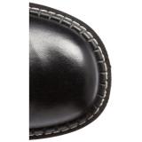 kunstlær 5 cm EMILY-375 lårhøye støvletter platå