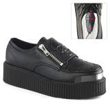 kunstlær 5 cm V-CREEPER-510 platå creepers sko til menn
