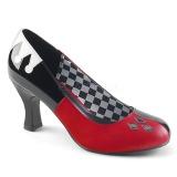 kunstlær 7,5 cm HARLEY-42 pinup pumps sko med lave hæler
