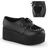 kunstlær 7 cm GRIP-02 lolita sko gothic platåsko med tykke såler