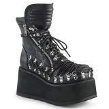 kunstlær 8,5 cm DEMONIA CLASH-150 gothic ankelstøvler