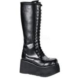 kunstlær 8,5 cm TRASHVILLE-502 platå gotisk støvler til menn