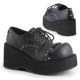 kunstlær 8 cm DANK-110 lolita sko gothic platåsko