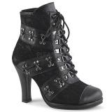 kunstlær 9,5 cm DEMONIA GLAM-202 lolita gothic ankelstøvler