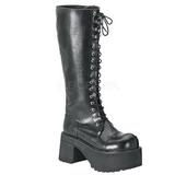 kunstlær 9 cm RANGER-302 platå gotisk støvler til menn