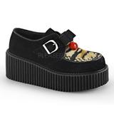 kunstlær CREEPER-213 platå creepers sko til kvinners