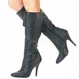 lær 10 cm VANITY-2013 knehøye støvletter dame