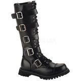 lær RIOT-20 punk støvler til menn gotisk støvler