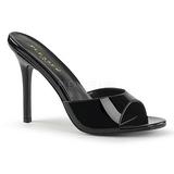 lakk 10 cm CLASSIQUE-01 dame slip ins med hæler