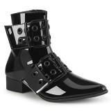 lakk WARLOCK-55 spisse boots - herre winklepicker boots 2 spenner