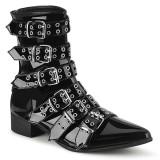 lakk WARLOCK-70 spisse boots - herre winklepicker boots 6 spenner
