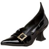 lakkert 6,5 cm SALEM-06 heks pumps sko flate hæl
