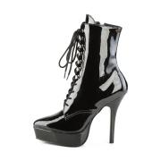 lakklær 13,5 cm INDULGE-1020 stiletto ankelstøvler med høye hæler