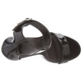 lakklær 13 cm AMUSE-10 sko med høye hæler for menn