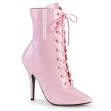 lakklær 13 cm SEDUCE-1020 rosa ankelstøvletter med stiletthæl