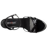lakklær 15 cm Devious DOMINA-108 dame sandaler med hæl