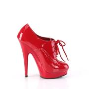 lakklær 15 cm SULTRY-660 platå booties høye hæler rød
