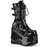 lakklær 15 cm WAVE-150 demonia støvler med kilehæl