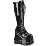 lakklær 15 cm WAVE-200 demonia støvler med kilehæl