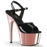lakklær 18 cm ADORE-709 rosa plattform hæl sko