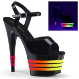 lakklær 18 cm ADORE-709UVLN2 høyhælte sandaler neon platå