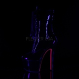 lakklær 18 cm SKY-1020TT pleaser ankelstøvletter med neon såler