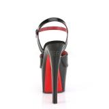 lakklær 18 cm SKY-309TT pleaser platåsandaler med røde såler