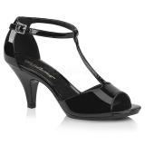 lakklær 8 cm BELLE-371 sko med høye hæler for menn