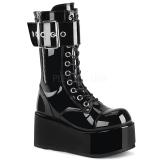 lakklær 9,5 cm PETROL-150 demonia støvler - unisex platåstøvler