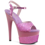 lavendel 18 cm ADORE-709-2G glitter platå sandaler dame