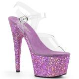 lavendel glitter 18 cm Pleaser ADORE-708LG pole dancing sko