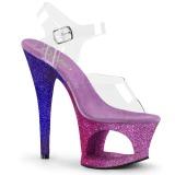 lavendel glitter 18 cm Pleaser MOON-708OMBRE pole dancing sko
