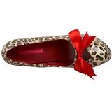 leopard 14,5 cm Burlesque TEEZE-12 høye damesko med høy hæl