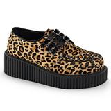 leopard 5 cm CREEPER-112 creepers sko dame platåsko med tykke såler