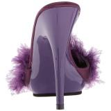 lilla 13 cm POISE-501F marabou fjær høye sko mules