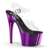 lilla 18 cm ADORE-708 krom platå høye hæler sko