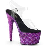 lilla 18 cm ADORE-708MSLG glitter platå sandaler dame