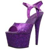 lilla 18 cm ADORE-710LG glitter platå høye hæler dame
