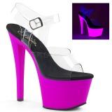 lilla 18 cm SKY-308UV neon platå høye hæler dame