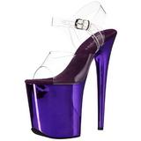 lilla 20 cm FLAMINGO-808 krom platå høye hæler sko