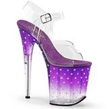 lilla 20 cm STARDUST-808T platå høyhælte sandaler sko