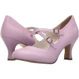 lilla 7,5 cm FLAPPER-35 pinup pumps sko med lave hæler