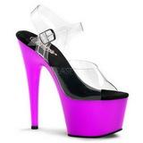 lilla Neon 18 cm ADORE-708UV platå høye hæler sko
