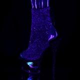 lilla glitter 18 cm MOON-1018MER pole dancing ankelstøvletter