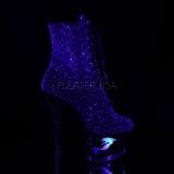 lilla glitter 18 cm MOON-1020MER pole dancing ankelstøvletter